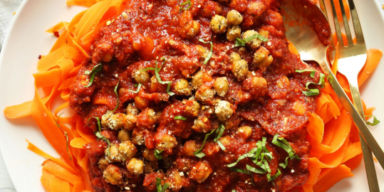 Weeknight Chickpea Bolognese