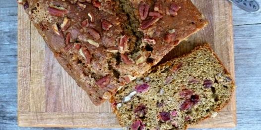 Yam Pecan Cranberry Loaf