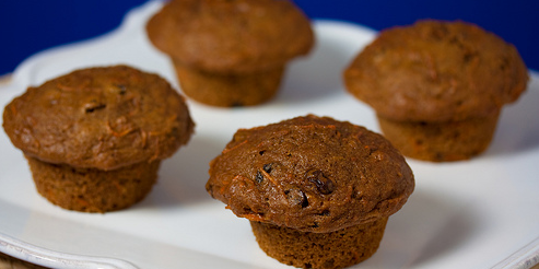 Carrot Flaxseed Muffins