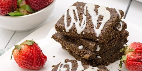 Raw Vegan No-Bake Brownies