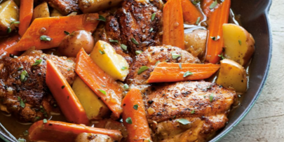 Braised Chicken with Sweet Potatoes