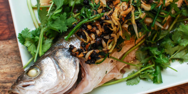 Steamed Whitefish with Black Bean and Ginger Sauce