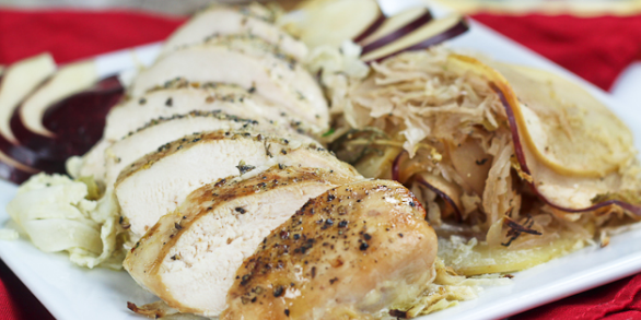 Apple Cabbage Oven-Baked Chicken