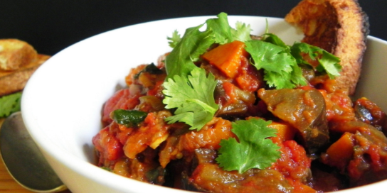 Moroccan Eggplant with Tomatoes