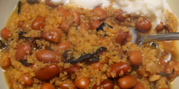 Pinto Bean Stew with Caramelized Onions