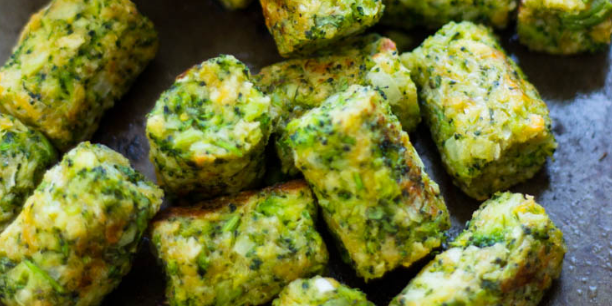Healthy Baked Broccoli Tots