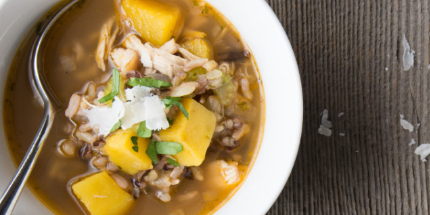 Chicken Soup with Acorn Squash