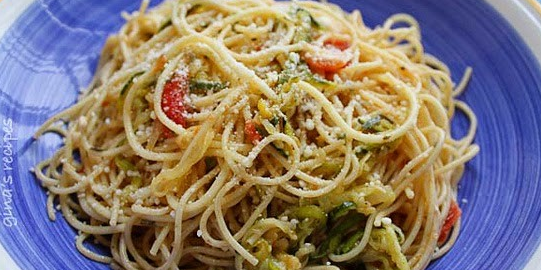 Angel Hair with Zucchini & Tomatoes