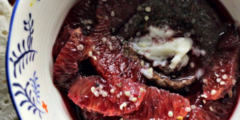 Teff Porridge with Blood Orange & Coconut Butter