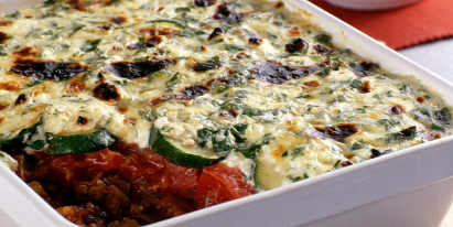 Beef & Vegetable Cheese Casserole