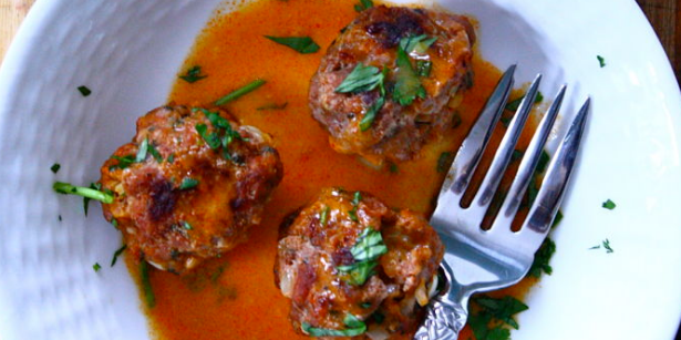 Thai Lamb Meatballs with Coconut Red Curry