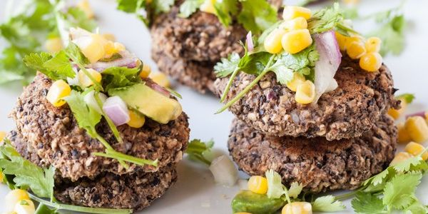 Black Bean Fritters with Sweet & Spicy Corn Salsa