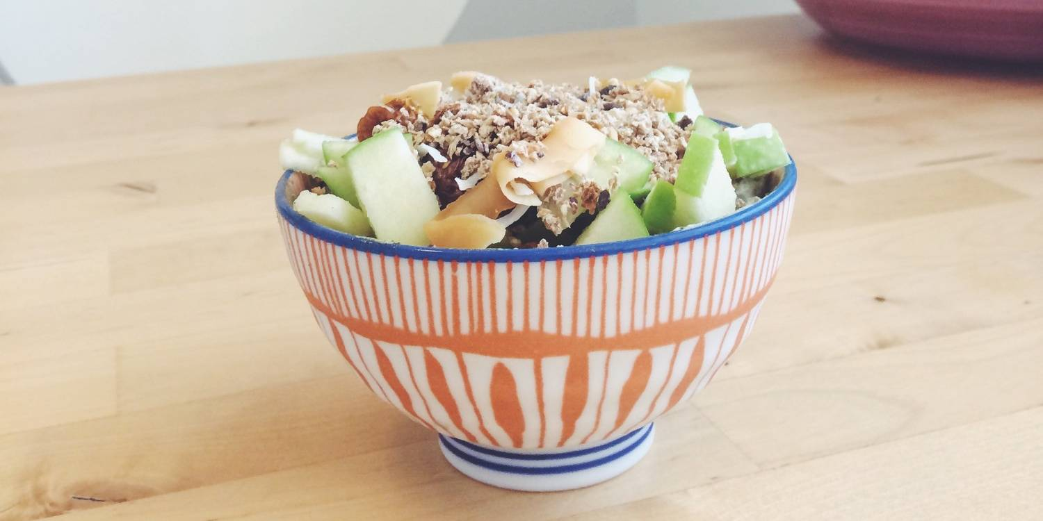 Apple, Coconut, Granola Snack Bowl