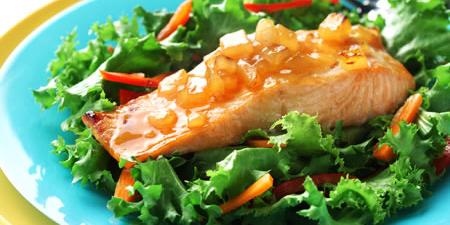Salmon with Mango Chutney