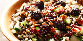Crunchy Wild Rice Salad with Blackberry Dressing