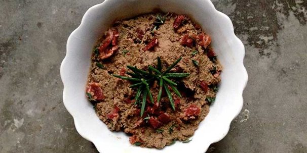 Bacon Beef Liver Pate with Rosemary and Thyme