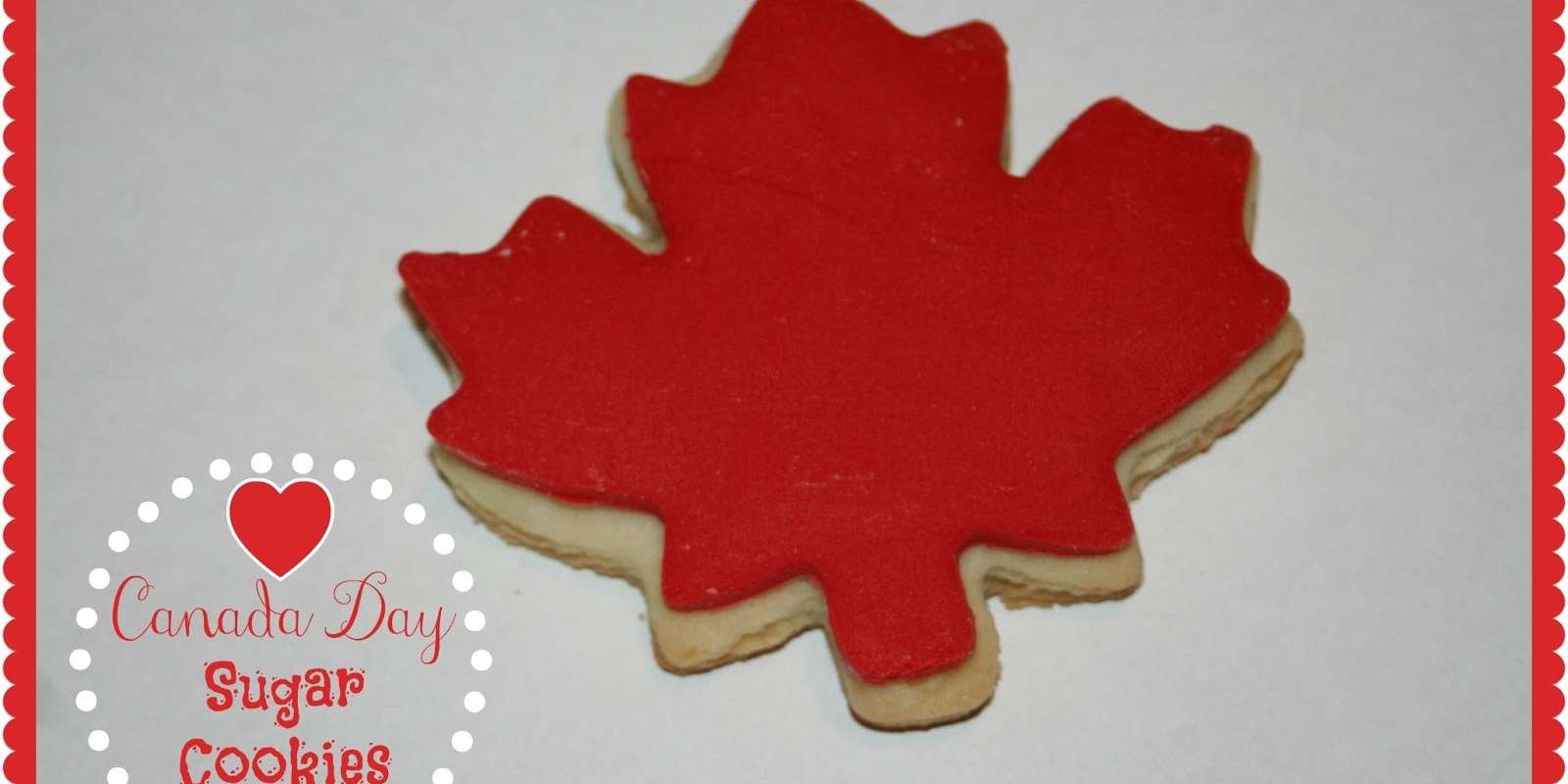 Canada Day Sugar Cookies