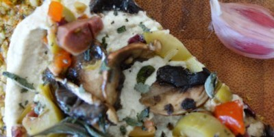 Green Olive and Mushroom Pizza
