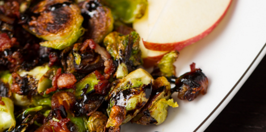 Brussels Sprouts with Apple, Bacon & Dates