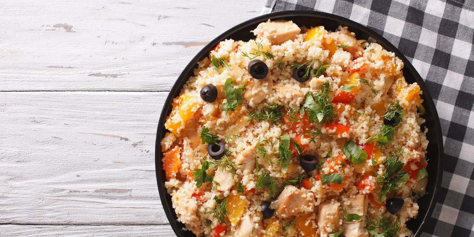 Chicken and Couscous Skillet Dinner