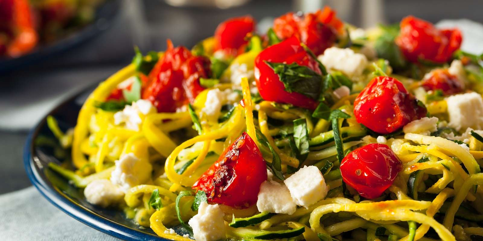 Zucchini Pasta with Sundried Tomatoes
