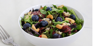 Blueberry Cashew Quinoa Salad