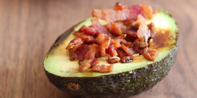 Avocado Bacon Snack