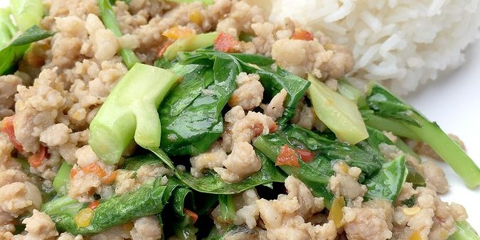 EASY Pork with Greens, Rice and Beans Stir Up
