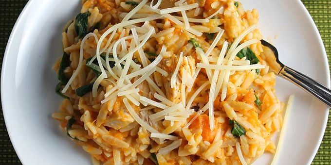 ORZO WITH LEFTOVER TURKEY AND SWEET POTATOES