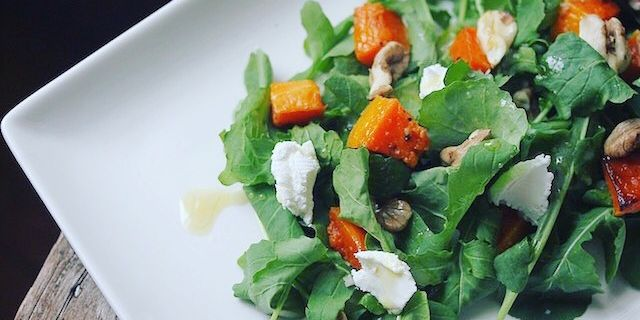 Arugula Roasted Squash Salad