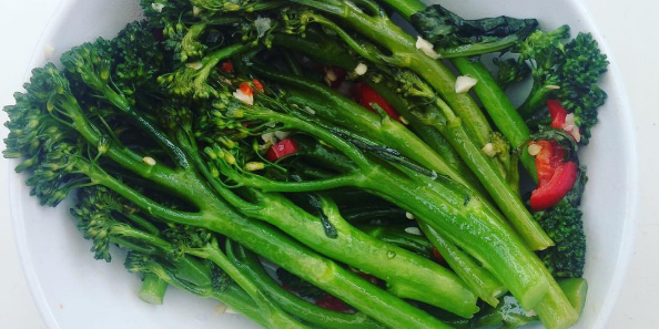 Steamed Garlicy Rapini