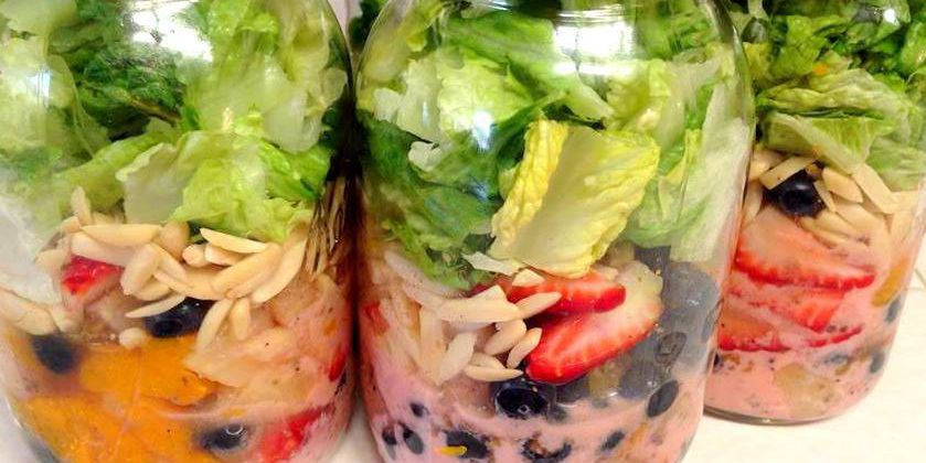 Strawberry Poppyseed Mason Jar Salads