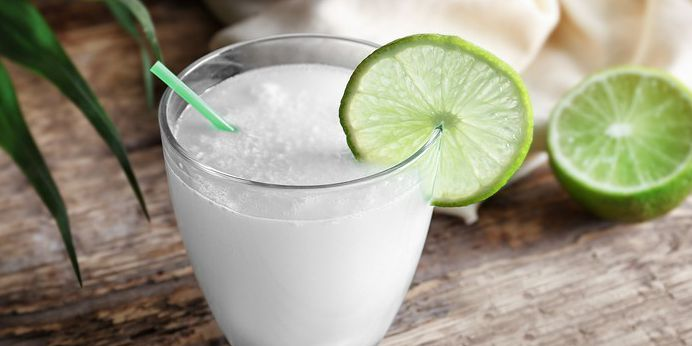 Drink it Up! Lime, Mint and Coconut Water