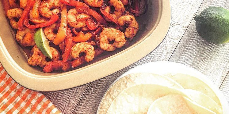 Simple Sheet Plan Shrimp Fajitas