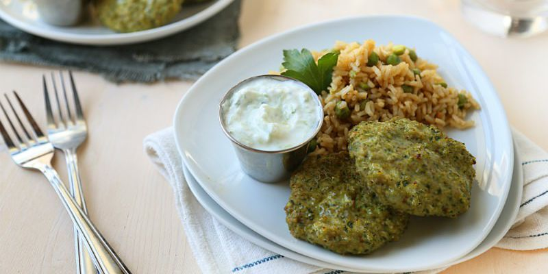 Turkey Kofta with Cumin Scented Brown Rice