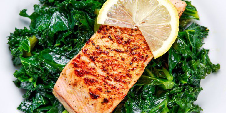 Wild Salmon with Buttered Kale (Bulletproof)