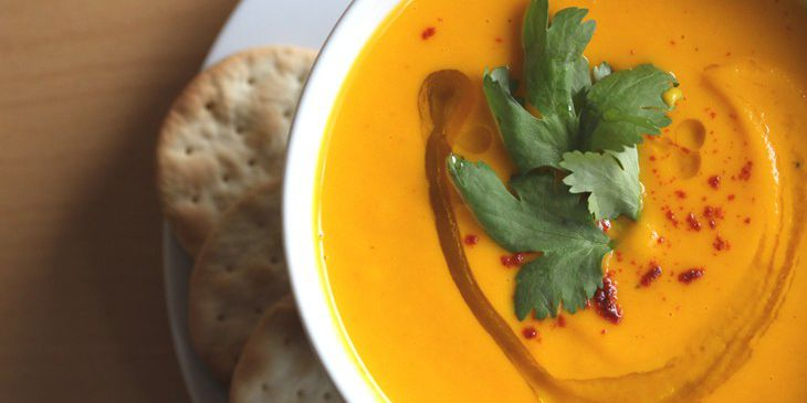 Spicy Carrot, Coconut, Lime & Ginger Soup