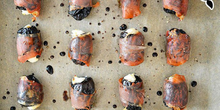 Prosciutto wrapped Stuffed Prunes