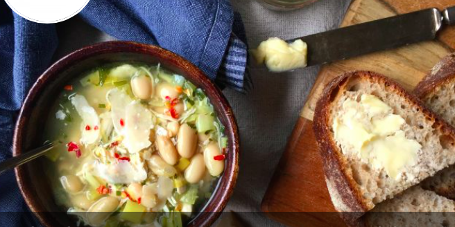 Chicken, White Bean and Leek Soup