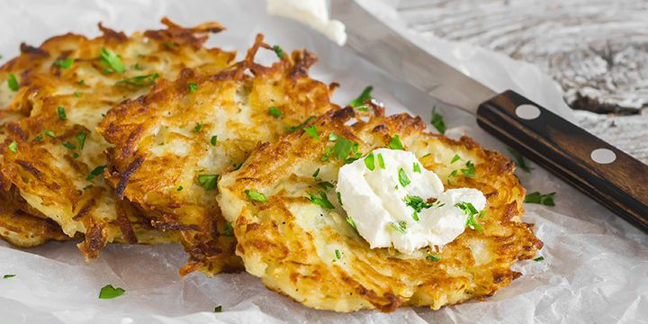 Potato & Cauliflower Latkes