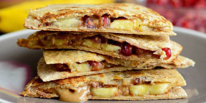 Almond Butter Fruit Quesadillas