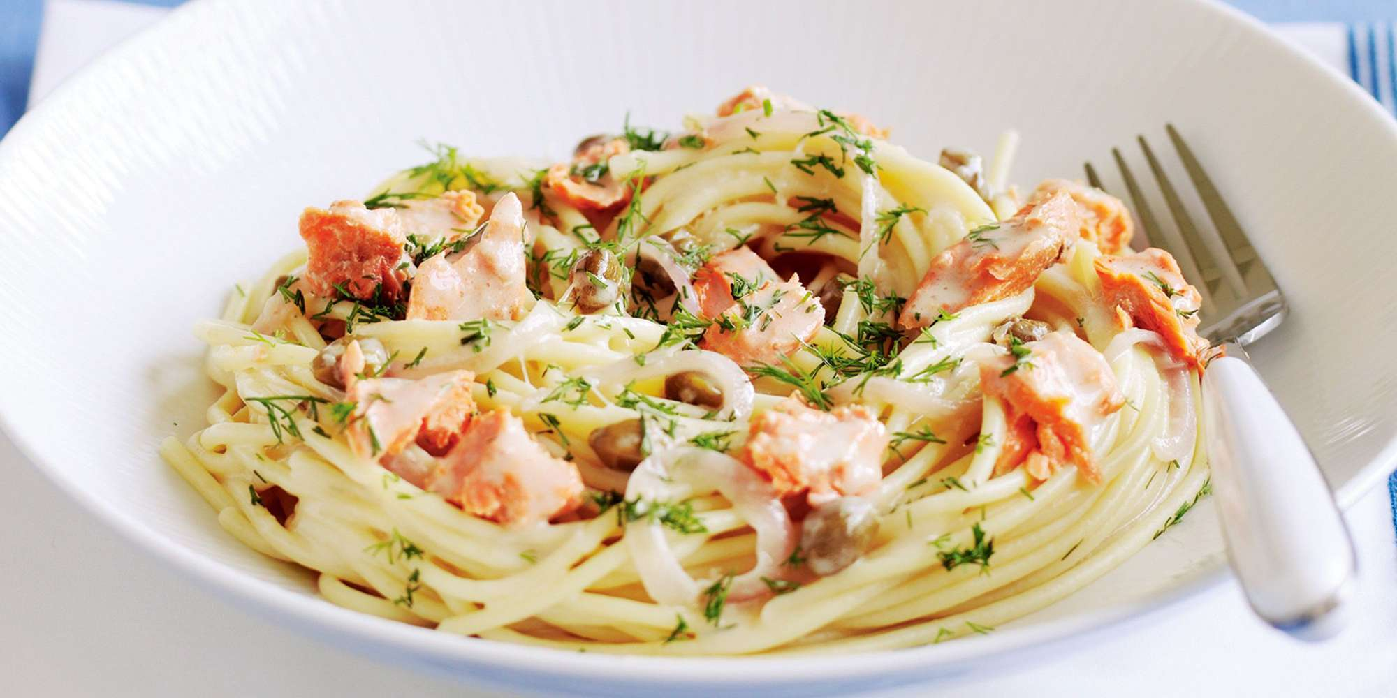 Linguine with Salmon, Leek and Dill