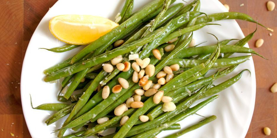 TNT Green Beans with Toasted Pine Nuts
