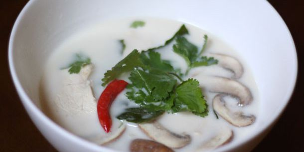 Thai Coconut Chicken Soup with Mushrooms Recipe