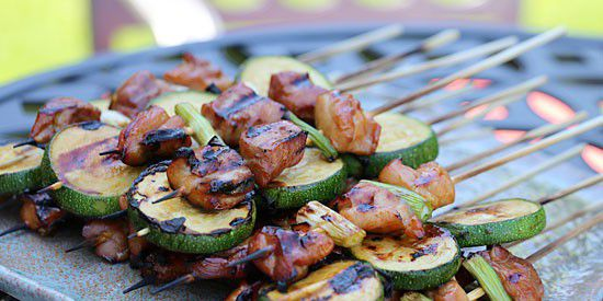 Grilled Chicken & Zucchini Yakitori