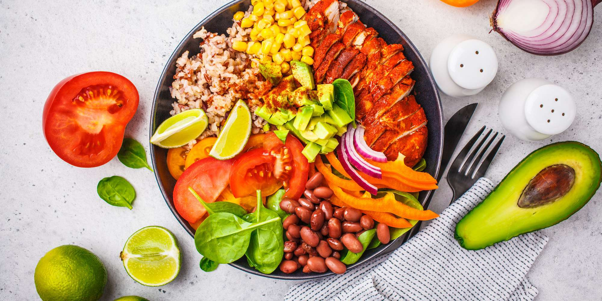 Brown Rice Fiesta Bowl with Chicken