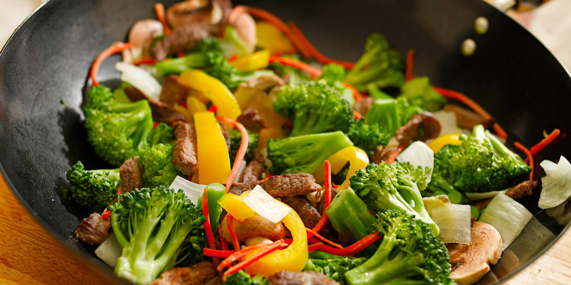 Pork Stir-Fry with Sweet Pepper and Sesame
