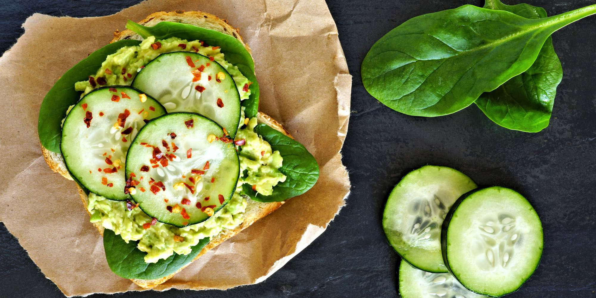 Gluten-Free Avocado Toast with Spinach & Cucumber