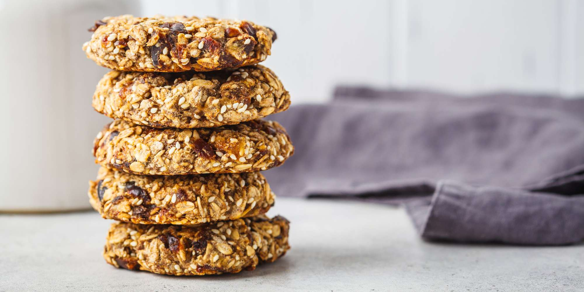 Banana Date and Oat Cookies