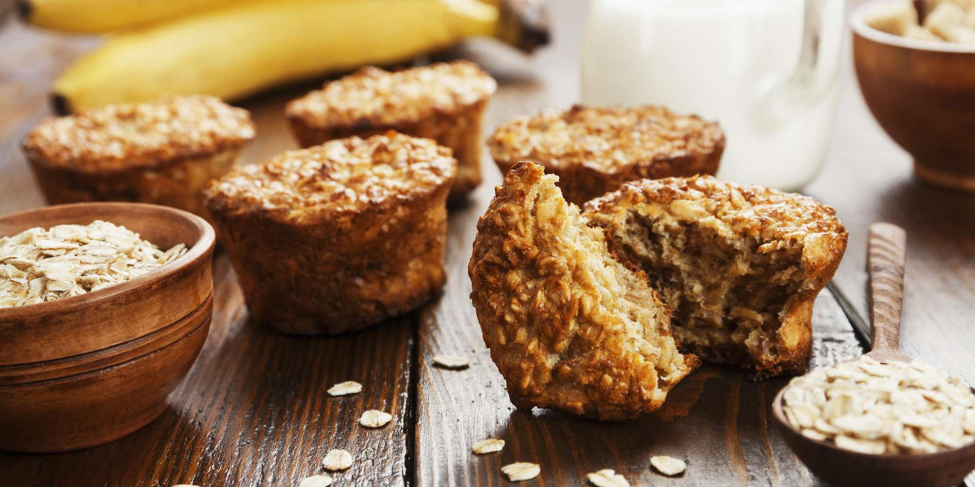 Quick and Easy Banana-Oat Muffins